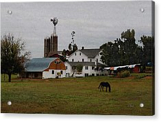 Amish Wash Day Acrylic Print by Gordon Beck