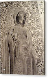 Amitabha Of Gifu Hokke Temple Acrylic Print by Hirokazu Tomimasu