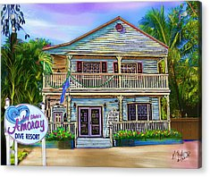 Amoray Dive Resort Acrylic Print by Gerry Robins