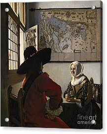 Amorous Couple Acrylic Print by Vermeer