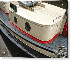 Amsterdam Canal Boat Acrylic Print by Gregory Dyer
