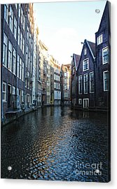 Amsterdam Canal View - 01 Acrylic Print by Gregory Dyer