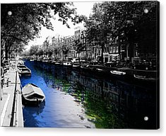 Amsterdam Colorsplash Acrylic Print by Nicklas Gustafsson