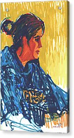 Amy At Jeff's Acrylic Print by Candace Lovely