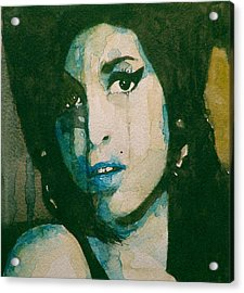 Amy Acrylic Print by Paul Lovering
