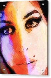 Amy Pop-art Acrylic Print by Lutz Baar