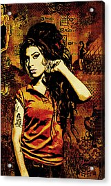 Amy Winehouse 24x36 Mm Reg Acrylic Print by Dancin Artworks