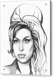 Amy Winehouse Acrylic Print by Olga Shvartsur