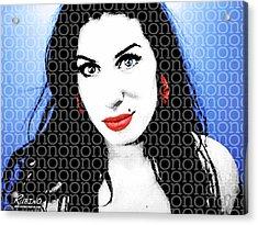 Amy Winehouse Acrylic Print by Tony Rubino