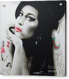 'amy Your Music Will Echo Forever' Acrylic Print by Christian Chapman Art