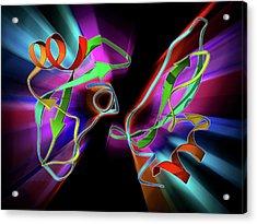 Amyloid Precursor Protein Molecule Acrylic Print by Laguna Design