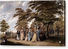 An Airing In Hyde Park, 1796 Acrylic Print by Edward Days
