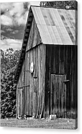 An American Barn Bw Acrylic Print by Steve Harrington