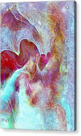 An Angels Love Acrylic Print by Linda Sannuti