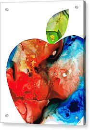 An Apple A Day - Colorful Fruit Art By Sharon Cummings  Acrylic Print by Sharon Cummings