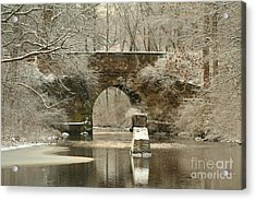 An Arched Stone Bridge Acrylic Print by Linda Jackson