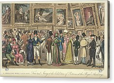 An Art Exhibition Acrylic Print by British Library