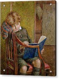 An Artists Son Acrylic Print by Charles James Adams
