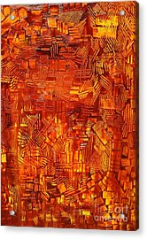 An Autumn Abstraction Acrylic Print by Michael Kulick