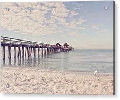 An Early Morning - Naples Pier Acrylic Print by Kim Hojnacki