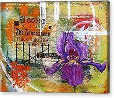 An Iris For The Tennessean Acrylic Print by Andrea LaHue aka Random Act