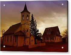 An Old Church In Williston North Dakota  Acrylic Print by Jeff Swan