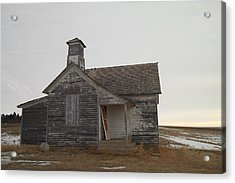 An Old Church On The Prairie  Acrylic Print by Jeff Swan