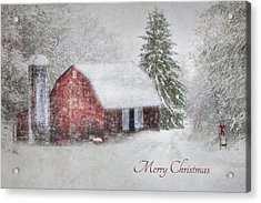 An Old Fashioned Merry Christmas Acrylic Print by Lori Deiter