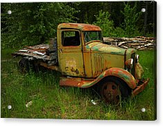 An Old Flatbed Acrylic Print by Jeff Swan