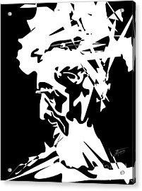 An Old Man Acrylic Print by Alex Tavshunsky