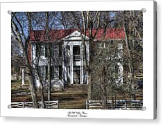 An Old White House Brentwood Tn Acrylic Print by Gina Munger