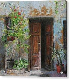 An Open Door Milan Italy Acrylic Print by Anna Rose Bain