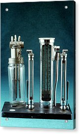 Anaesthetic Gas Flow Meter Acrylic Print by Science Photo Library