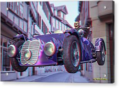 Anaglyph Old Car  Acrylic Print by Ramon Martinez