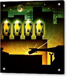 Analog Evening Acrylic Print by Milton Thompson