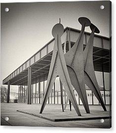 Analog Photography - Berlin Neue Nationalgalerie Acrylic Print by Alexander Voss
