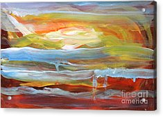 Anarchist Sunset  Acrylic Print by Anne Cameron Cutri