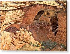 Anasazi - Ancient Ones Acrylic Print by Paul Krapf