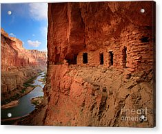 Anasazi Granaries Acrylic Print by Inge Johnsson