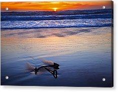Anchor Ocean Beach Acrylic Print by Garry Gay