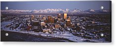 Anchorage At The Base Of Chugach Mtns Acrylic Print by Panoramic Images
