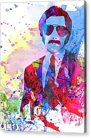 Anchorman Watercolor 2 Acrylic Print by Naxart Studio