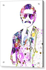 Anchorman Watercolor Acrylic Print by Naxart Studio