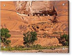 Ancient Anasazi Pueblo Canyon Dechelly Acrylic Print by Bob and Nadine Johnston