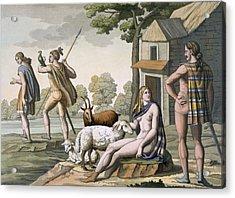 Ancient Gauls, C.1800-18 Acrylic Print by Italian School