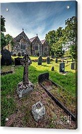 Ancient Graveyard   Acrylic Print by Adrian Evans