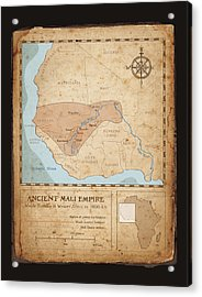 Ancient Mali Empire Acrylic Print by Dave Kobrenski