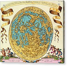 Ancient Map Of The World Acrylic Print by Gianfranco Weiss