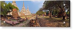 Ancient Ruins Of A Temple, Wat Phra Si Acrylic Print by Panoramic Images