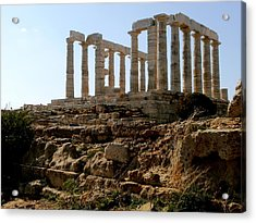 Ancient Temple Acrylic Print by Constantinos Charalampopoulos